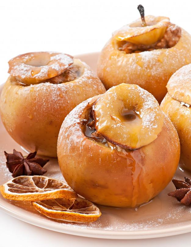 Manzanas al horno con miel