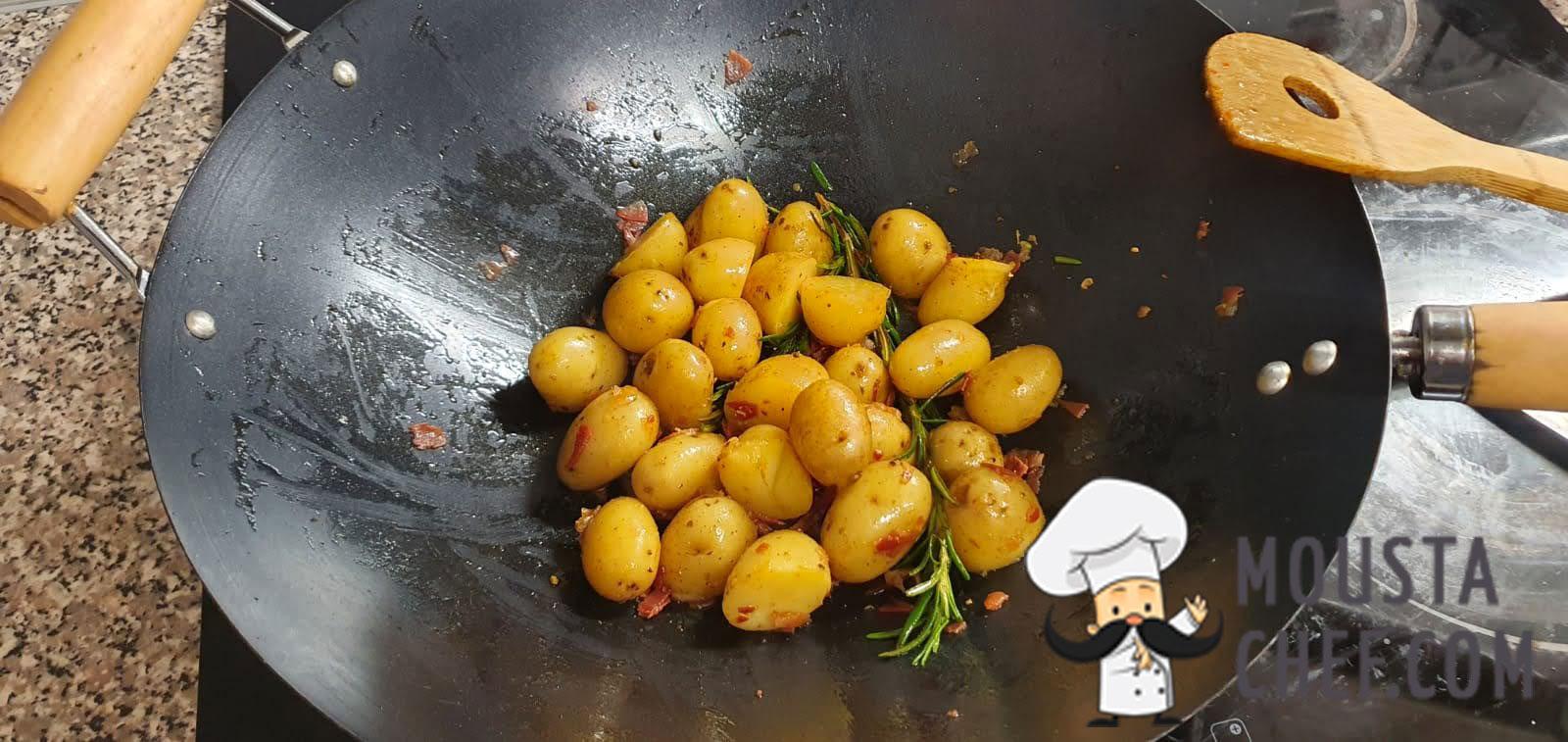 Patatas con Queso y Jamon