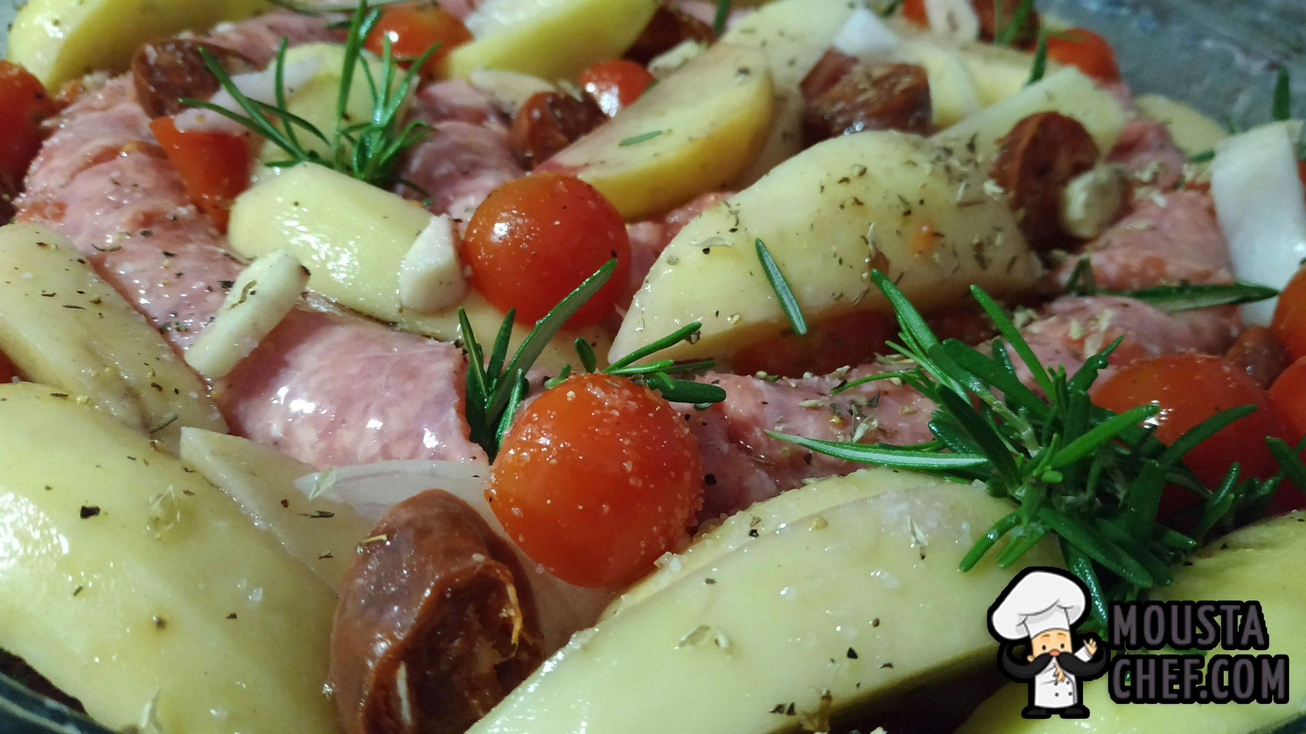 butifarra al Hrono con Patatas y Chorizo